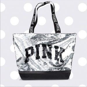 PINK VICTORIA SECRET Sequin Tote Bag